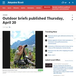 Outdoor briefs published Thursday, April 20
