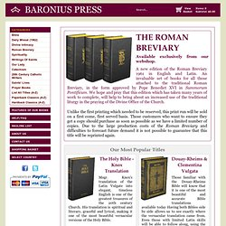 Baronius Press: Catholic Publisher of Catholic Books, Catholic Bibles, Daily Missal, Liturgical Books, Catechism, Catholic Classics - Online Catholic Bookstore.