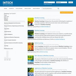 InTech Open Access Publisher - Open Science Open Minds