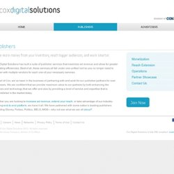 Publishers « « Cox Digital Solutions Cox Digital Solutions