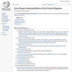 List of largest UK book publishers