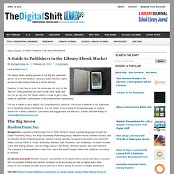 A Guide to Publishers in the Library Ebook Market