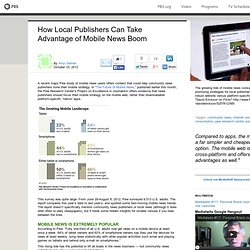 How Local Publishers Can Take Advantage of Mobile News Boom
