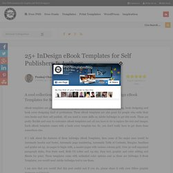 25+ InDesign eBook Templates for Self Publishers & Authors