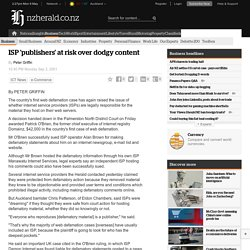 ISP 'publishers' at risk over dodgy content