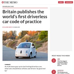 Britain publishes the world's first driverless car code of practice