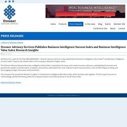Dresner Business Intelligence Success Index and Business Intelligence Value Index