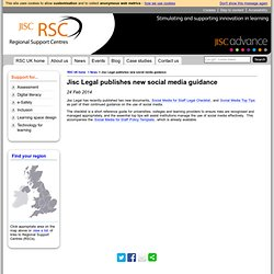 Jisc Legal publishes new social media guidance