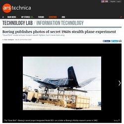 Boeing publishes photos of secret 1960s stealth plane experiment