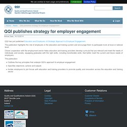 publishes strategy for employer engagement