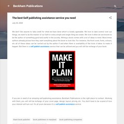 The best Self publishing assistance service you need