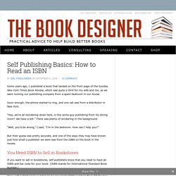 Self Publishing Basics: How to Read an ISBN