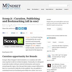 Scoop.it : Curation, Publishing and Bookmarking (all in one)