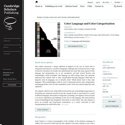 Cambridge Scholars Publishing. Color Language and Color Categorization