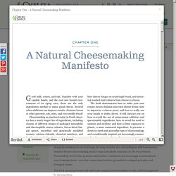 Chelsea Green Publishing - The Art of Natural Cheesemaking