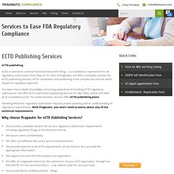 An Overview About eCTD Publishing Services?