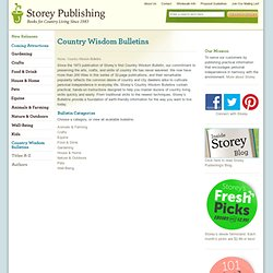 Publishing : Country Wisdom Bulletins
