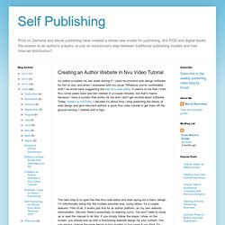 Self Publishing 2.0: Creating an Author Website in Nvu Video Tutorial