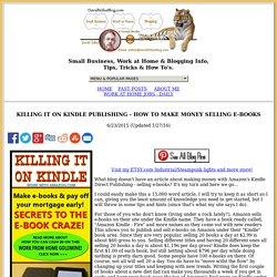 KILLING IT ON KINDLE PUBLISHING - DAVIDSTILESBLOG.COM