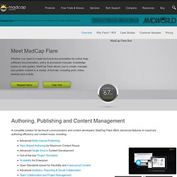 MadCap Software | Help Authoring Tools, Technical Writing and Knowledge Base Software > MadCap Flare Overview