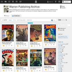 Warren Publishing Archive : Free Texts : Download & Streaming