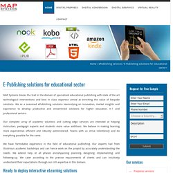 E-Publishing solutions for educational sector
