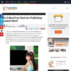 The 5 Best Free Tools for Publishing Student Work