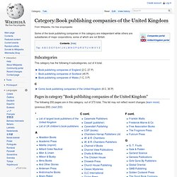Category:Book publishing companies of the United Kingdom