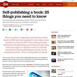 Self-publishing a book: 25 things you need to know | Fully ...