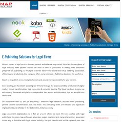 E-Publishing solutions for legal firms