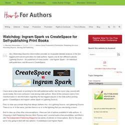 Self-Publishing Author Advice from The Alliance of Independent Authors