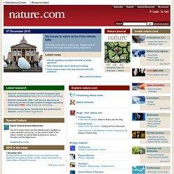 Nature Publishing Group : science journals, jobs, and informatio