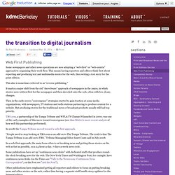 Web First Publishing | The Transition to Digital Journalism