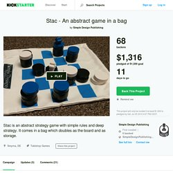 Stac - An abstract game in a bag by Simple Design Publishing