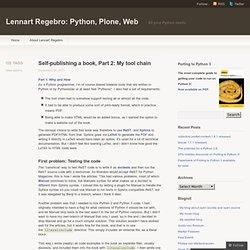Self-publishing a book, Part 2: My tool chain « Lennart Regebro: Python, Plone, Web
