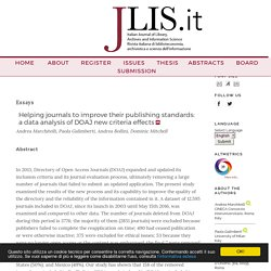 Helping journals to improve their publishing...
