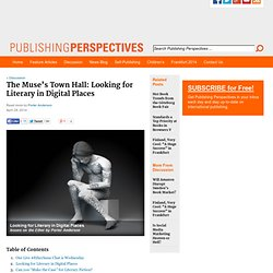 Looking for Literary in Digital Places