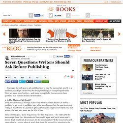 Seven Questions Writers Should Ask Before Publishing