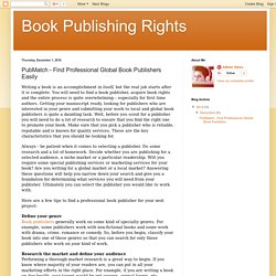 Book Publishing Rights: PubMatch - Find Professional Global Book Publishers Easily