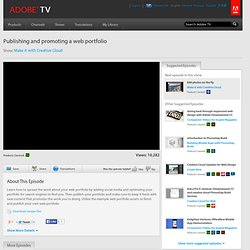 Publishing and promoting a web portfolio | Adobe & Your Voice: Be Seen, Be Heard, Stand Out