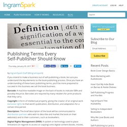 Publishing Terms Every Self-Publisher Should Know