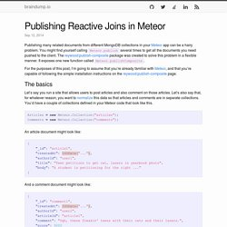 Publishing Reactive Joins in Meteor