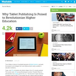 Why Tablet Publishing Is Poised to Revolutionize Higher Education