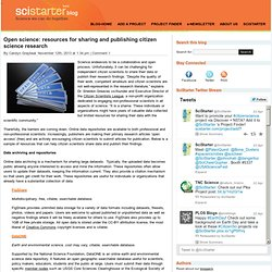 Open science: resources for sharing and publishing citizen science research - SciStarter Blog at SciStarter Blog