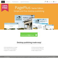 Free Desktop Publishing Software – PagePlus Starter Edition from Serif