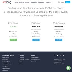 Joomag Digital Publishing Solutions for Education