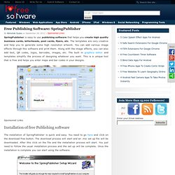 Free Publishing Software: SpringPublisher