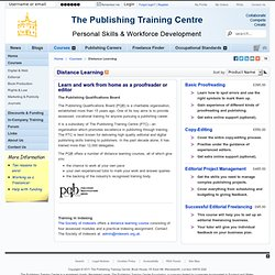The Publishing Training Centre - Distance Learning