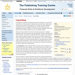 The Publishing Training Centre - Copy-Editing