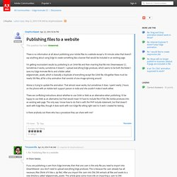 Publishing files to a website